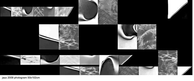 jazz 2009 (one part from seven) photogram, 50x102cm